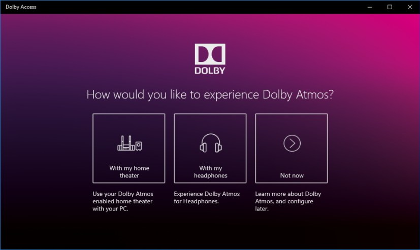 Dolby Access app for Windows 10